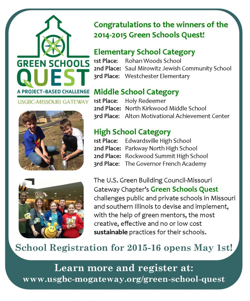 Green Schools Quest Healthy Planet Ad May 2015