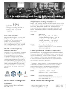 2019 Benchmarking Training Flyer 7.1.19